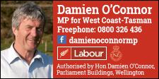 HON DAMIEN O'CONNOR – MP FOR WEST COAST-TASMAN